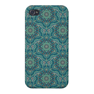Coque iPhone 4/4S Motif floral ethnique abstrait coloré de mandala