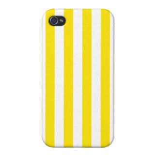 Coque iPhone 4/4S Rayures jaunes verticales