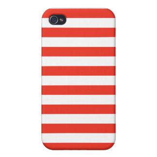 Coque iPhone 4/4S Rayures rouges horizontales