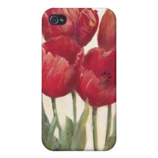 Coque iPhone 4/4S Tulipes rouges