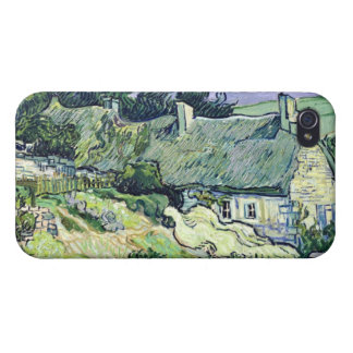 Coque iPhone 4/4S Vincent van Gogh | a couvert des cottages de