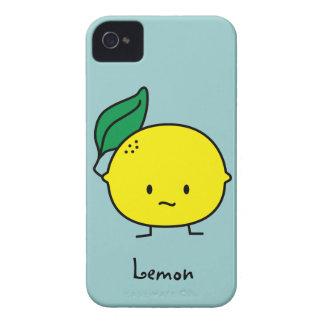 Coque iPhone 4 Agrumes jaunes aigres de feuille de citron lemony