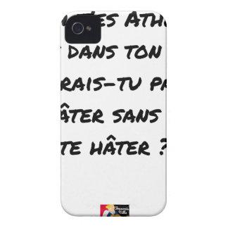 COQUE iPhone 4 AH, T'ES ATHÉ ! MAIS DANS TON ÉTAT, N'AURAIS-TU