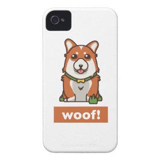 Coque iPhone 4 Amant mignon de chien de corgi de Gallois de