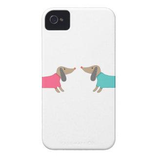 Coque iPhone 4 Amoureux de les chiens mignons