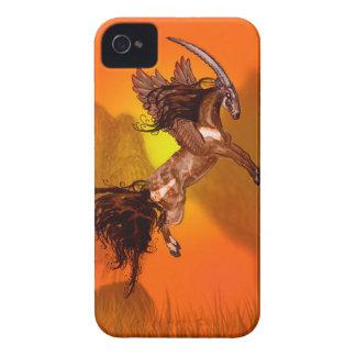 Coque iPhone 4 Animal sauvage à ailes de Brown de poney de cheval