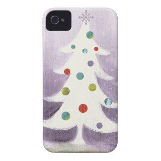 Coque iPhone 4 Arbre de Noël blanc