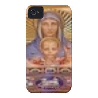 Coque iPhone 4 art de Mary et d'enfant