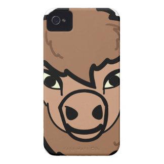 Coque iPhone 4 art de visage de bison