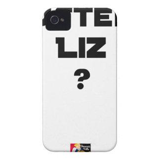 Coque iPhone 4 AUSTÈRE LIZ - Jeux de mots - Francois Ville