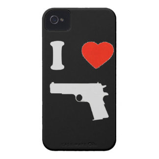 """Coque iPhone 4 Barely There """"I love gun"""""""
