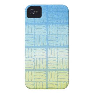 Coque iPhone 4 Bleu et jaune