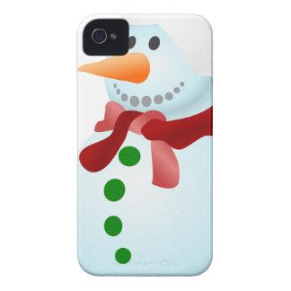 Coque iPhone 4 Bonhomme de neige décoré