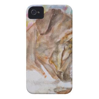 Coque iPhone 4 BOULEDOGUE .5 d'aquarelle