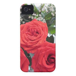 Coque iPhone 4 Bouquet de roses rouges avec le souffle de Babys
