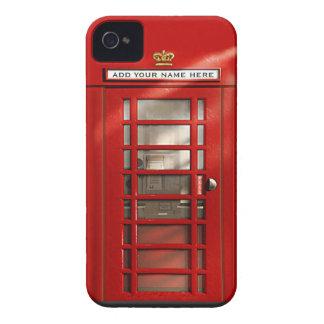 Coque iPhone 4 Cabine téléphonique rouge britannique