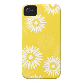 Coque iPhone 4 Caisse jaune des fleurs 4/4S d'été
