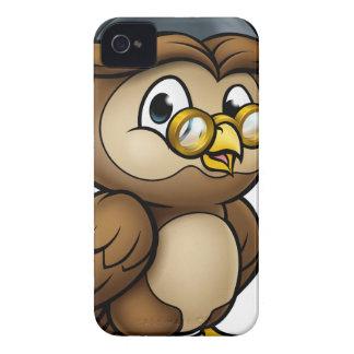Coque iPhone 4 Caractère sage de professeur de diplômé de hibou