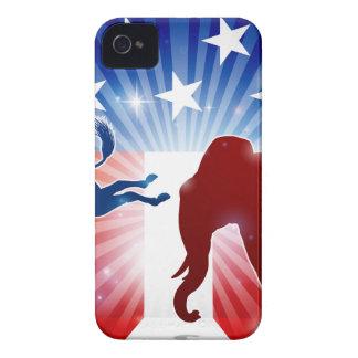 Coque iPhone 4 Case-Mate Âne de combat d'éléphant de silhouette