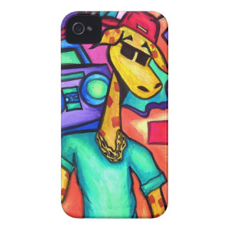 Coque iPhone 4 Case-Mate Artiste de graffiti de girafe