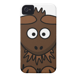 Coque iPhone 4 Case-Mate Bande dessinée de yaks de Brown