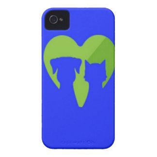 Coque iPhone 4 Case-Mate Bluecatdogheart