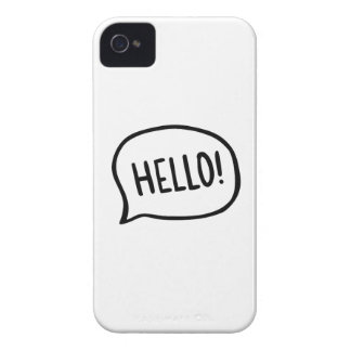Coque iPhone 4 Case-Mate Bonjour ! Monde ! Je suis ici