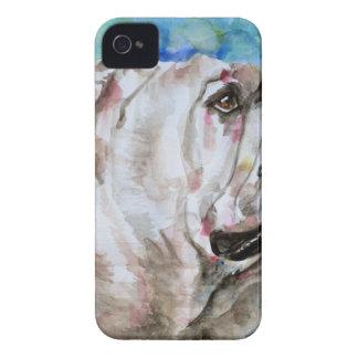Coque iPhone 4 Case-Mate BOULEDOGUE .2 d'aquarelle