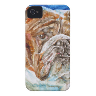 Coque iPhone 4 Case-Mate BOULEDOGUE .4 d'aquarelle