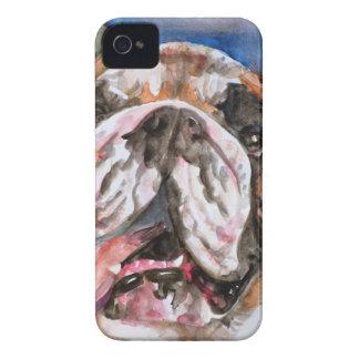 Coque iPhone 4 Case-Mate BOULEDOGUE .6 d'aquarelle
