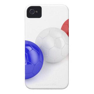 Coque iPhone 4 Case-Mate Boules du football avec le drapeau de la France