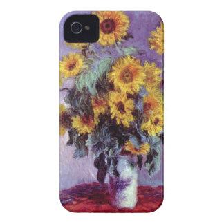 Coque iPhone 4 Case-Mate Bouquet des tournesols par Claude Monet, art
