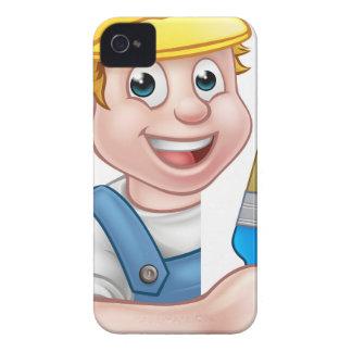 Coque iPhone 4 Case-Mate Bricoleur de bande dessinée de peintre et de