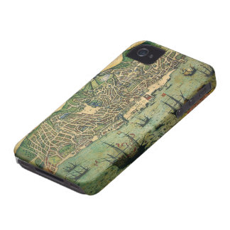 Coque iPhone 4 Case-Mate Carte antique, plan de ville de Lisbonne,