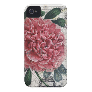 Coque iPhone 4 Case-Mate Carte rouge de pivoine