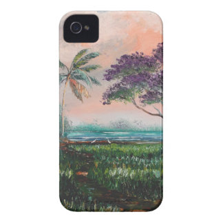 Coque iPhone 4 Case-Mate Chambre de plage de Jacaranda