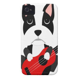 Coque iPhone 4 Case-Mate Chien de Boston Terrier d'amusement jouant la