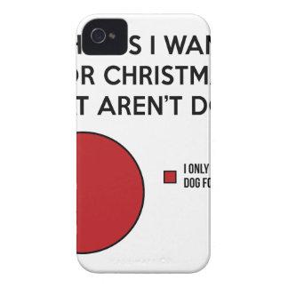 Coque iPhone 4 Case-Mate Chien de Noël
