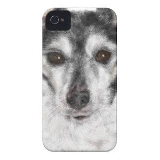 Coque iPhone 4 Case-Mate Chien noir et blanc