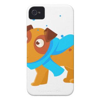 Coque iPhone 4 Case-Mate Chiot dans l'écharpe bleue marchant dehors en