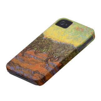 Coque iPhone 4 Case-Mate Ciel orange de verger olive de Van Gogh,