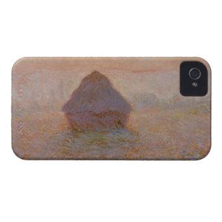 Coque iPhone 4 Case-Mate Claude Monet   Grainstack, Sun dans la brume
