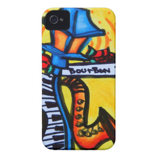 Coque iPhone 4 Case-Mate Courrier de musical de rue de Bourbon