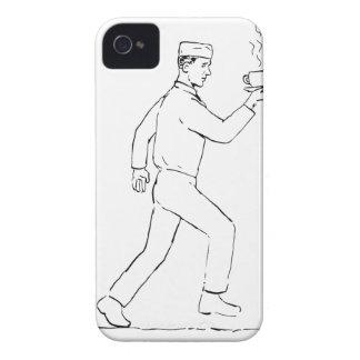Coque iPhone 4 Case-Mate Dessin courant de café de portion de rétro serveur