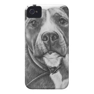Coque iPhone 4 Case-Mate Dessin de l'art animal de chien de Pitbull sur la