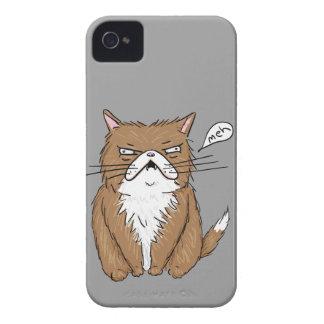 Coque iPhone 4 Case-Mate Dessin grincheux drôle de chat de Meh