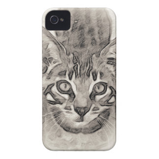 Coque iPhone 4 Case-Mate Dessin mignon de chaton du Bengale