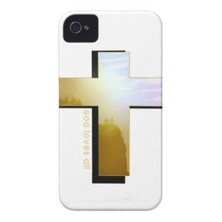Coque iPhone 4 Case-Mate Dieu aime toute la croix