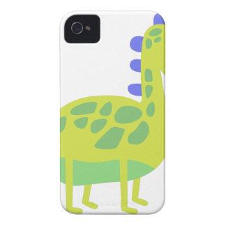 Coque iPhone 4 Case-Mate Dinosaure vert drôle mignon