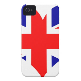 Coque iPhone 4 Case-Mate Drapeau de coeur d'Union Jack